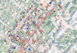 Uzavírka ulice Tyršova v Novém Městě na Moravě